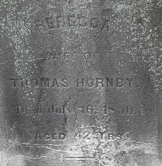 HORNBY, REBECCA - Lorain County, Ohio | REBECCA HORNBY - Ohio Gravestone Photos