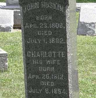 HOSKIN, CHARLOTTE - Lorain County, Ohio | CHARLOTTE HOSKIN - Ohio Gravestone Photos