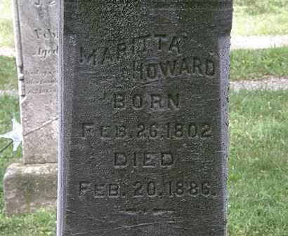 HOWARD, MARITTA - Lorain County, Ohio | MARITTA HOWARD - Ohio Gravestone Photos