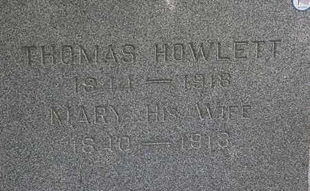 HOWLETT, THOMAS - Lorain County, Ohio | THOMAS HOWLETT - Ohio Gravestone Photos