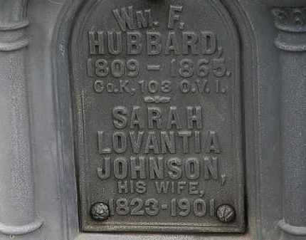 JOHNSON HUBBARD, SARAH LOVANTIA - Lorain County, Ohio | SARAH LOVANTIA JOHNSON HUBBARD - Ohio Gravestone Photos