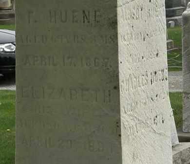 HUENE, ELIZABETH - Lorain County, Ohio | ELIZABETH HUENE - Ohio Gravestone Photos