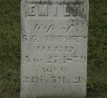 HUMPHREY, EMILY - Lorain County, Ohio | EMILY HUMPHREY - Ohio Gravestone Photos