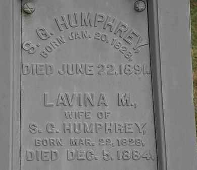 HUMPHREY, S.G. - Lorain County, Ohio | S.G. HUMPHREY - Ohio Gravestone Photos