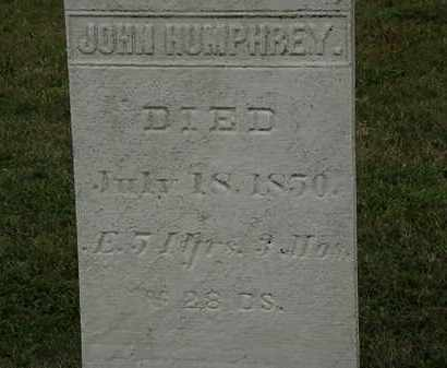 HUMPHREY, JOHN - Lorain County, Ohio | JOHN HUMPHREY - Ohio Gravestone Photos