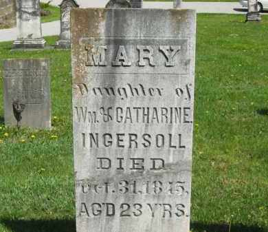 INGERSOLL, MARY - Lorain County, Ohio | MARY INGERSOLL - Ohio Gravestone Photos