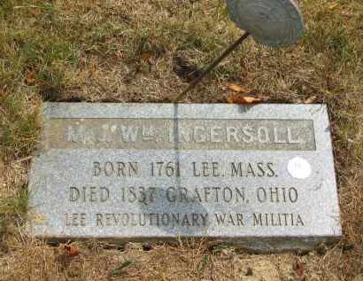 INGERSOLL, MAJ. WM. - Lorain County, Ohio | MAJ. WM. INGERSOLL - Ohio Gravestone Photos