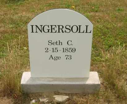 INGERSOLL, SETH C. - Lorain County, Ohio | SETH C. INGERSOLL - Ohio Gravestone Photos