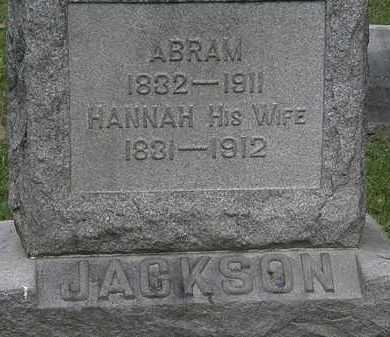 JACKSON, HANNAH - Lorain County, Ohio | HANNAH JACKSON - Ohio Gravestone Photos