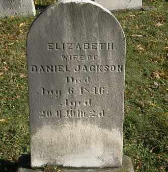 JACKSON, ELIZABETH - Lorain County, Ohio | ELIZABETH JACKSON - Ohio Gravestone Photos