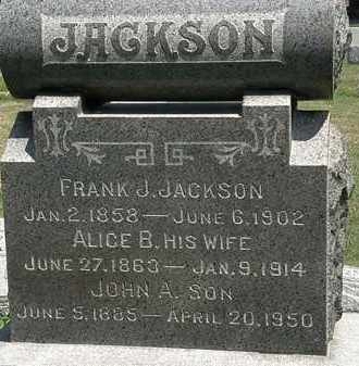 JACKSON, ALICE B. - Lorain County, Ohio | ALICE B. JACKSON - Ohio Gravestone Photos