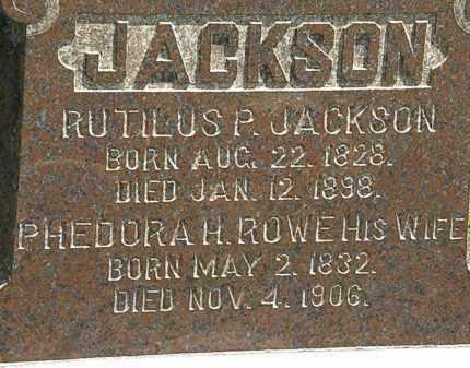 ROWE JACKSON, PHEDORA H. - Lorain County, Ohio | PHEDORA H. ROWE JACKSON - Ohio Gravestone Photos