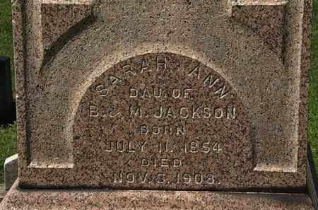 JACKSON, SARAH ANN - Lorain County, Ohio | SARAH ANN JACKSON - Ohio Gravestone Photos