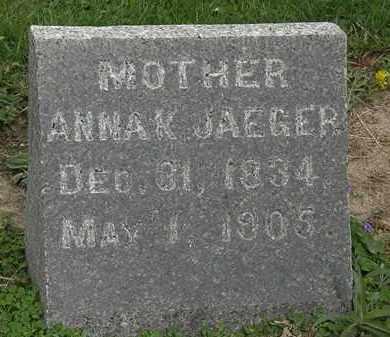 JAEGER, ANNAK - Lorain County, Ohio | ANNAK JAEGER - Ohio Gravestone Photos