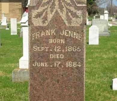 JENNE, FRANK - Lorain County, Ohio | FRANK JENNE - Ohio Gravestone Photos