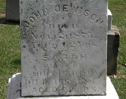 JEWISON, SARAH - Lorain County, Ohio | SARAH JEWISON - Ohio Gravestone Photos