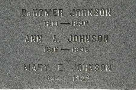 JOHNSON, MARY E. - Lorain County, Ohio | MARY E. JOHNSON - Ohio Gravestone Photos
