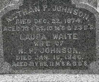 WAITE JOHNSON, LAURA - Lorain County, Ohio | LAURA WAITE JOHNSON - Ohio Gravestone Photos