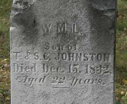 JOHNSTON, WM. L. - Lorain County, Ohio | WM. L. JOHNSTON - Ohio Gravestone Photos