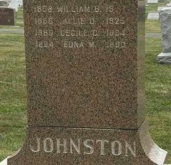JOHNSTON, WILLIAM B. - Lorain County, Ohio | WILLIAM B. JOHNSTON - Ohio Gravestone Photos