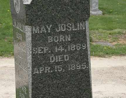 JOSLIN, MAY - Lorain County, Ohio | MAY JOSLIN - Ohio Gravestone Photos