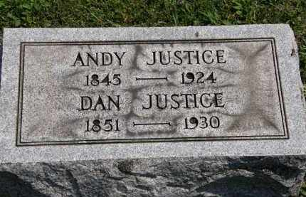 JUSTICE, ANDY - Lorain County, Ohio | ANDY JUSTICE - Ohio Gravestone Photos
