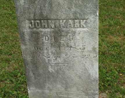 KARK, JOHN - Lorain County, Ohio | JOHN KARK - Ohio Gravestone Photos