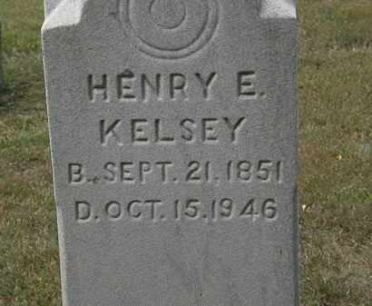 KELSEY, HENRY E. - Lorain County, Ohio | HENRY E. KELSEY - Ohio Gravestone Photos