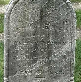 BEEBE KIBBY, EMMA - Lorain County, Ohio | EMMA BEEBE KIBBY - Ohio Gravestone Photos