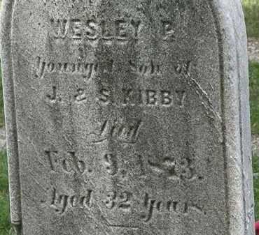 KIBBY, WESLEY P. - Lorain County, Ohio | WESLEY P. KIBBY - Ohio Gravestone Photos
