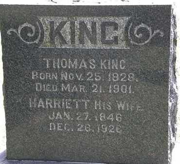 KING, THOMAS - Lorain County, Ohio | THOMAS KING - Ohio Gravestone Photos