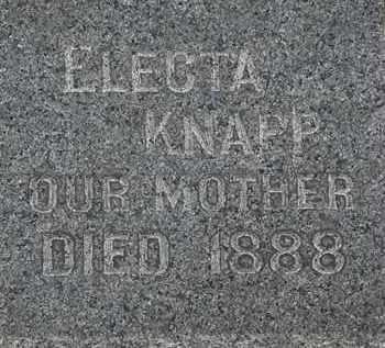 KNAPP, ELECTA - Lorain County, Ohio | ELECTA KNAPP - Ohio Gravestone Photos