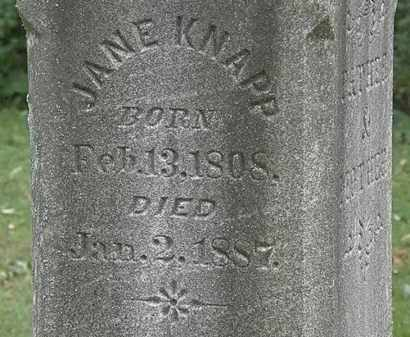 KNAPP, JANE - Lorain County, Ohio | JANE KNAPP - Ohio Gravestone Photos