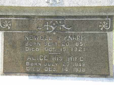 KNAPP, ALICE - Lorain County, Ohio | ALICE KNAPP - Ohio Gravestone Photos