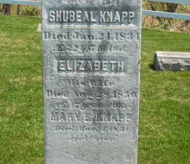 KNAPP, SHUBEAL - Lorain County, Ohio | SHUBEAL KNAPP - Ohio Gravestone Photos