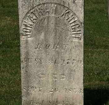 KNIGHT, JONATHAN - Lorain County, Ohio   JONATHAN KNIGHT - Ohio Gravestone Photos