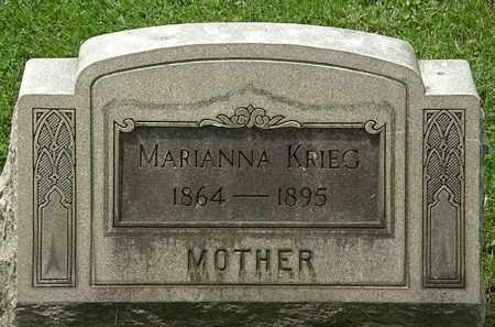 KREIG, MARIANNA - Lorain County, Ohio | MARIANNA KREIG - Ohio Gravestone Photos