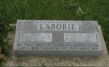 LABORIE, MARILLA - Lorain County, Ohio | MARILLA LABORIE - Ohio Gravestone Photos