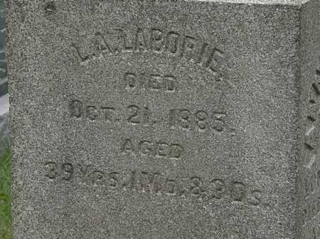 LABORIE, L. A. - Lorain County, Ohio | L. A. LABORIE - Ohio Gravestone Photos