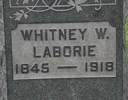 LABORIE, WHITNEY W. - Lorain County, Ohio | WHITNEY W. LABORIE - Ohio Gravestone Photos