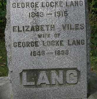 LANG, GEORGE LOCKE - Lorain County, Ohio | GEORGE LOCKE LANG - Ohio Gravestone Photos