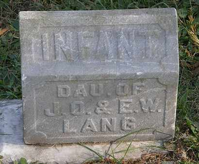 LANG, INFANT - Lorain County, Ohio | INFANT LANG - Ohio Gravestone Photos