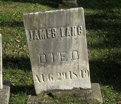LANG, JAMES - Lorain County, Ohio | JAMES LANG - Ohio Gravestone Photos