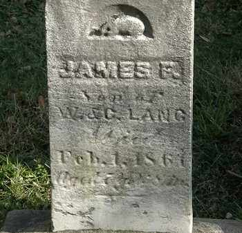 LANG, JAMES F. - Lorain County, Ohio | JAMES F. LANG - Ohio Gravestone Photos