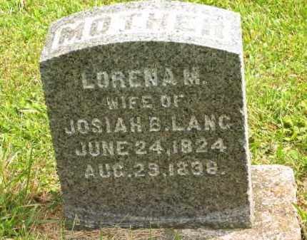 LANG, LORENA M. - Lorain County, Ohio | LORENA M. LANG - Ohio Gravestone Photos