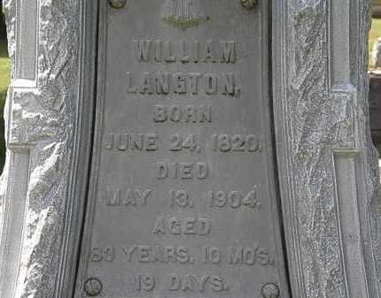 LANGTON, WILLIAM - Lorain County, Ohio | WILLIAM LANGTON - Ohio Gravestone Photos