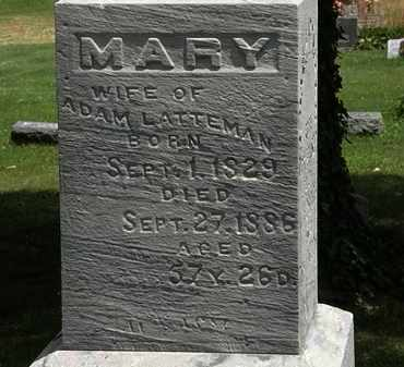 LATTEMAN, MARY - Lorain County, Ohio | MARY LATTEMAN - Ohio Gravestone Photos