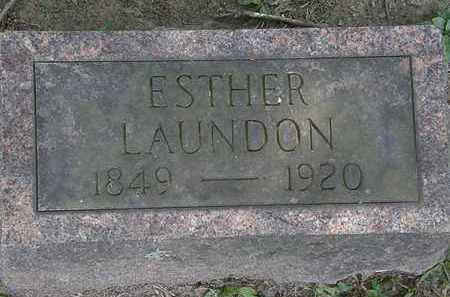 LAUNDON, ESTHER - Lorain County, Ohio | ESTHER LAUNDON - Ohio Gravestone Photos