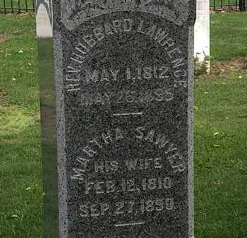 LAWRENCE, REV. HUBBARD - Lorain County, Ohio | REV. HUBBARD LAWRENCE - Ohio Gravestone Photos