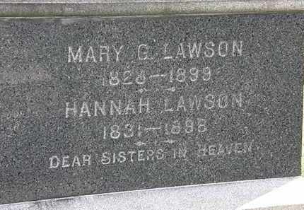 LAWSON, HANNAH - Lorain County, Ohio | HANNAH LAWSON - Ohio Gravestone Photos